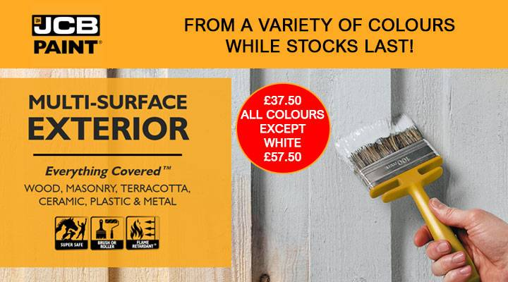 JCB ONE TOUGH EXTERIOR PAINT