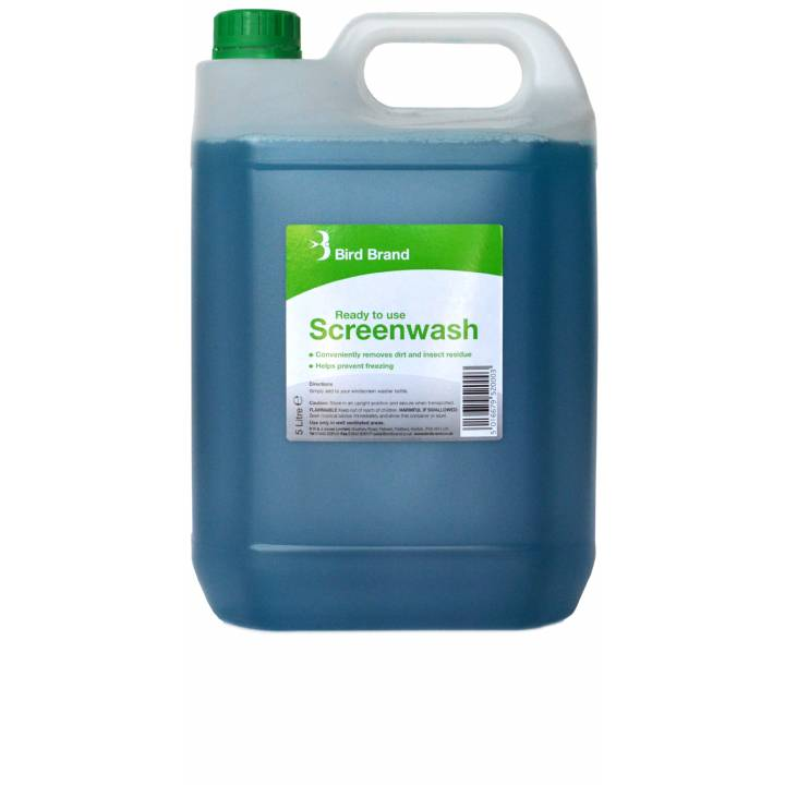 BIRD BRAND READY TO USE SCREENWASH 5L