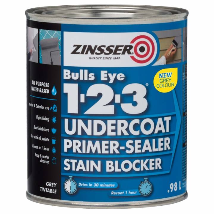 ZINSSER BULLS EYE 1-2-3 WHITE