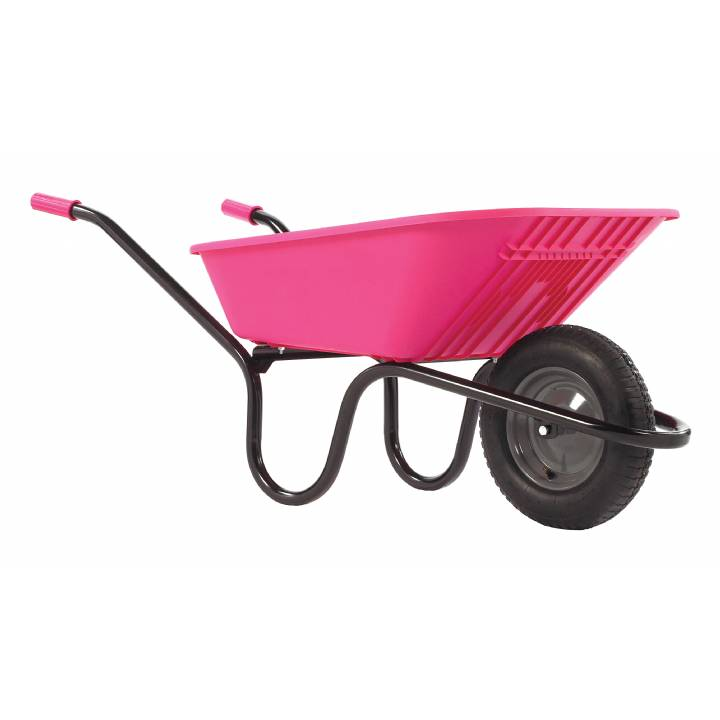 HAEMMERLIN POLYPRO PINK 90L WHEELBARROW