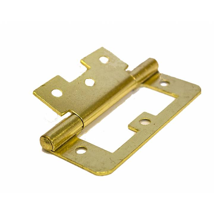 FLUSH HINGES ELECTRO BRASS 75MM EACH