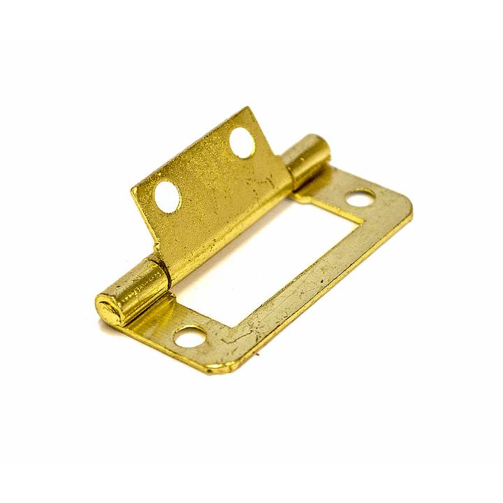 FLUSH HINGES ELECTRO BRASS 50MM EACH