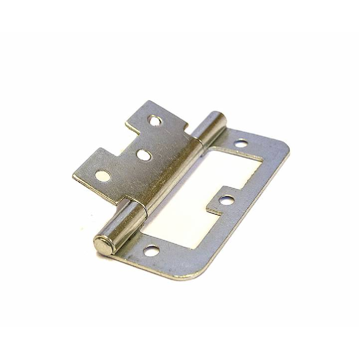 FLUSH HINGES BZP 75MM EA