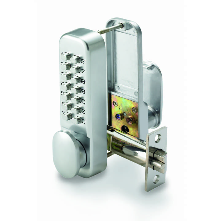 PUSH BUTTON DIGITAL LOCK WITH HOLD BACK