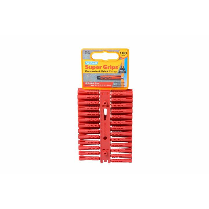 PLASPLUGS RED SUPERGRIP PLUGS (100 PACK)