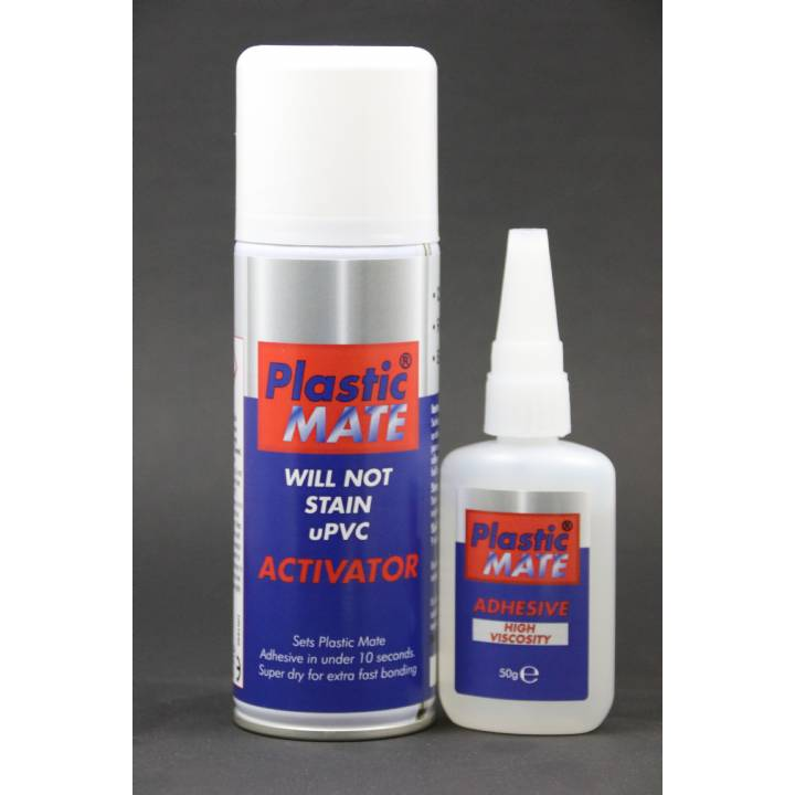 PLASTIC MATE TWIN PACK GLUE & AEROSOL