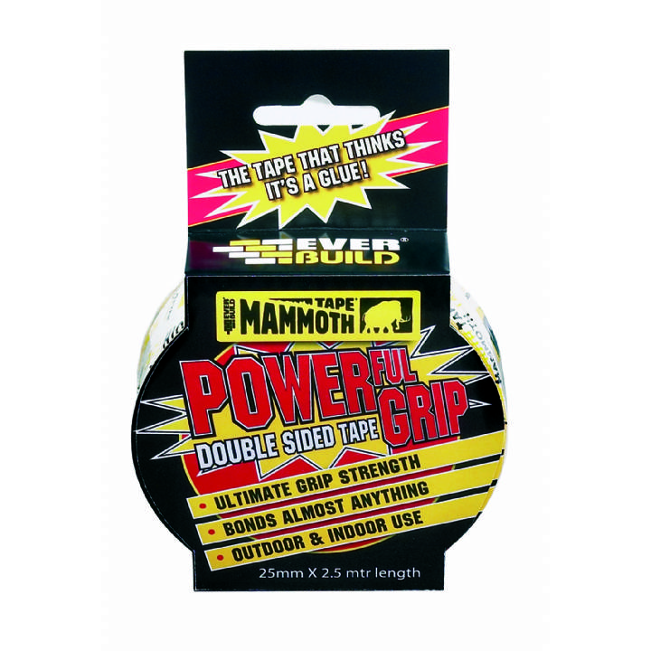 MAMMOTH TAPE POWERGRIP TAPE DOUBLE SIDED