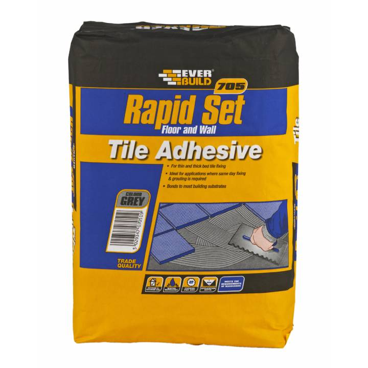 RAPID SET TILE MORTAR - 10KG