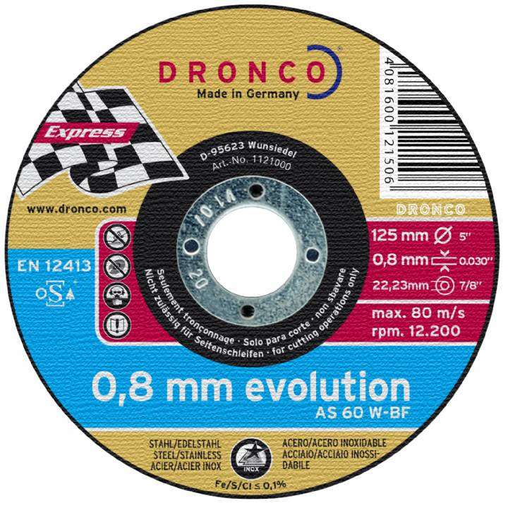 EVOLUTION METAL CUTTING DISC 0.8MM PK.10