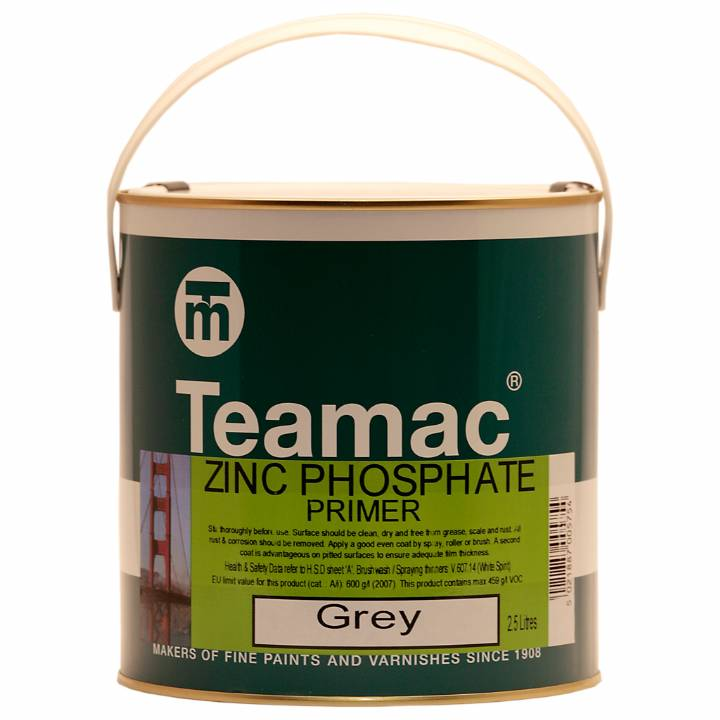 TEAMAC GREY PHOSPATE PRIMER 2.5LT