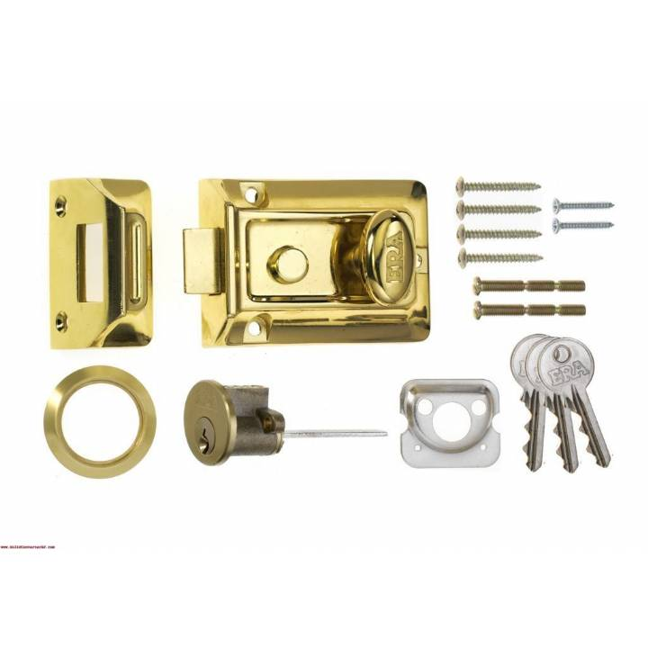 ERA BRASS PLATED DOOR LOCK