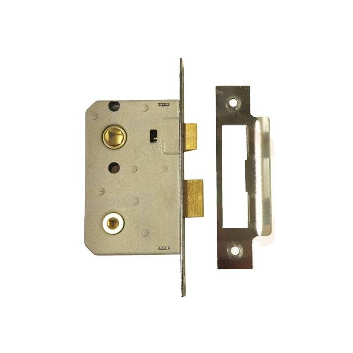 ERA 3 LEVER SASHLOCK 21/2 BRASS