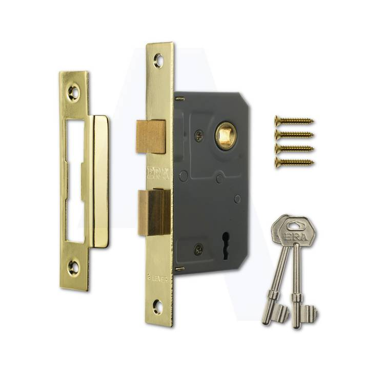 ERA 3 LEVER SASHLOCK 3 BRASS
