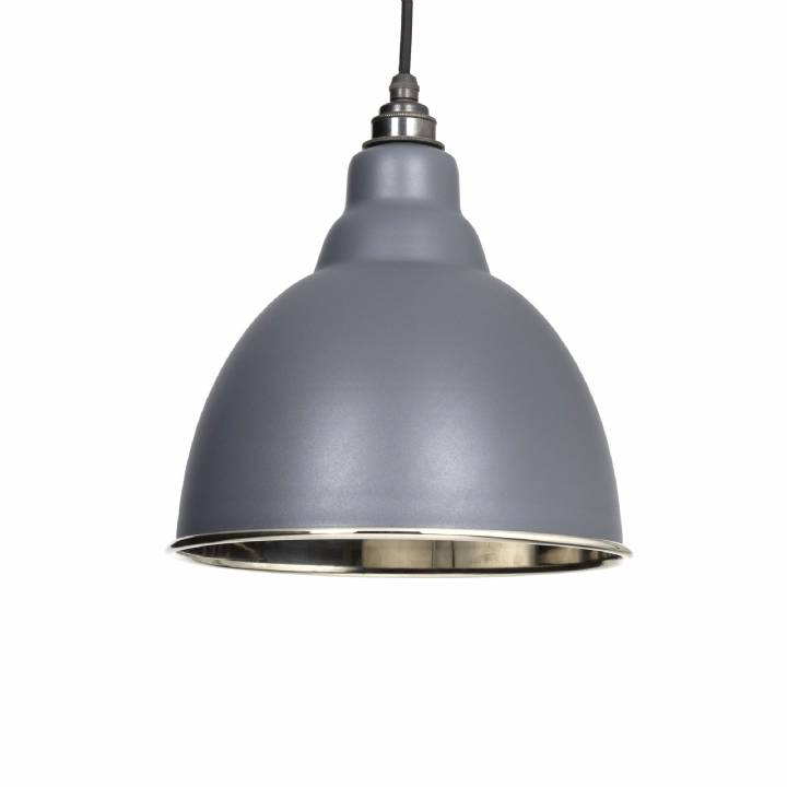 Dark Grey Smooth Nickel Brindley Pendant