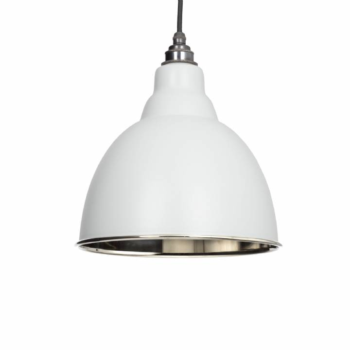 Light Grey Smooth Nickel Brindley Pendant
