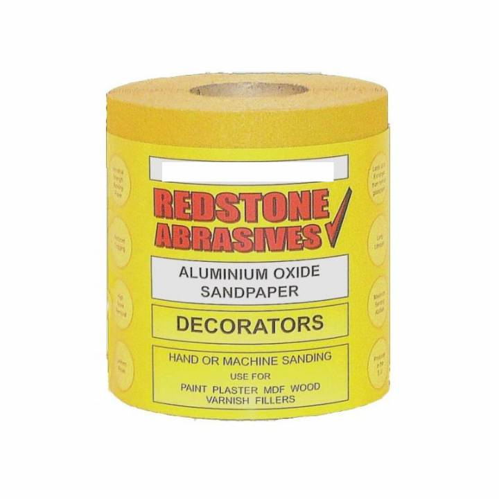 ABRASIVE SANDPAPER - DECORATING - 10 METRE ROLL