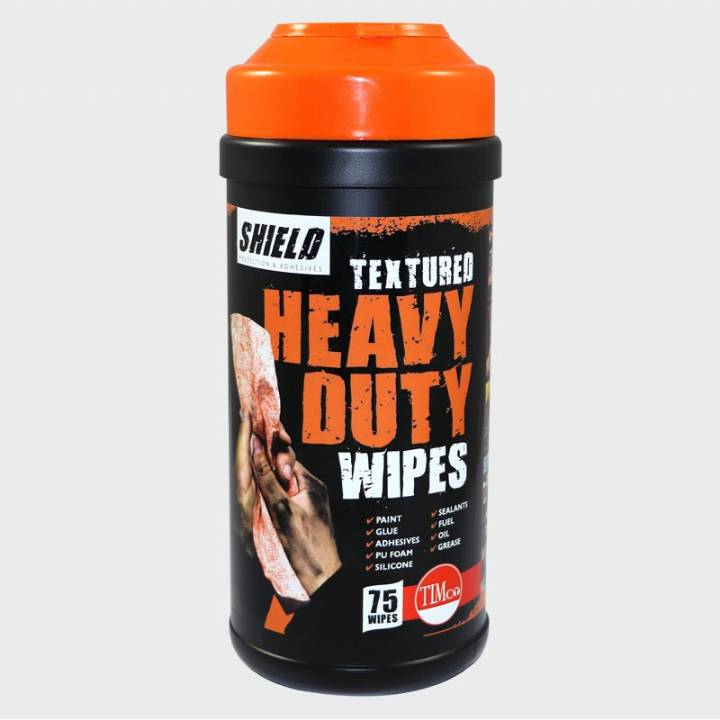 SHIELD HEAVY DUTY TEXTURED WIPES TUB - 75 WIPES