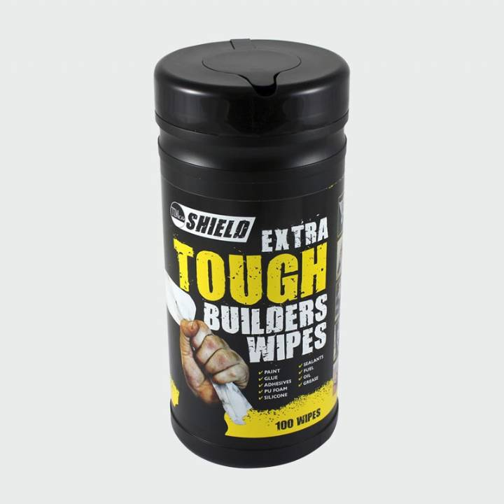 SHIELD BUILDERS WIPES TUB 100