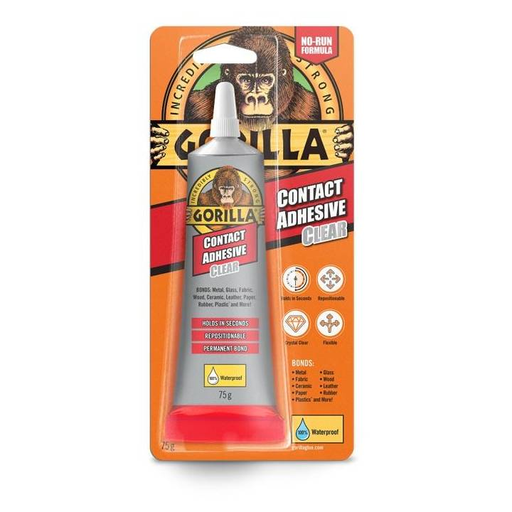 GORILLA CLEAR CONTACT ADHESIVE 75g