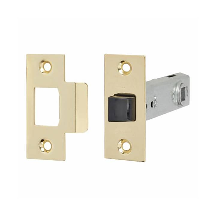 HEAVY DUTY TUBULAR LATCH 76MM BRASS