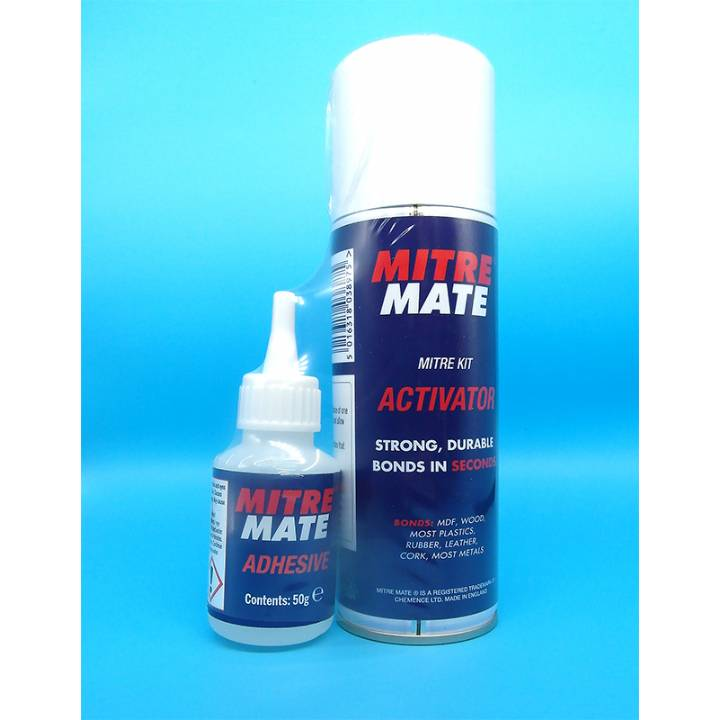 MITRE MATE TWIN PACK GLUE & AEROSOL