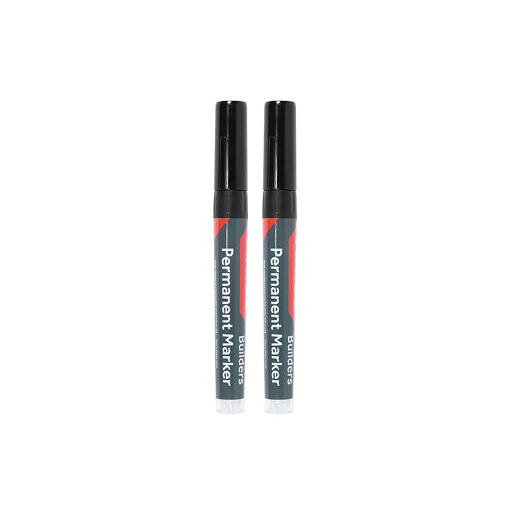 TIMCO CHISEL TIP MARKERS BLACK PK.2